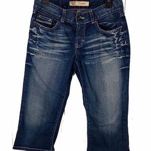 BKE Capri Jeans Culture Slim Blue Denim Women's 28
